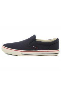 Tommy Hilfiger Jeans Textıle Slıp On Erkek Günlük Ayakkabı Lacivert(77688428)