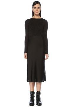 Allsaints Kadın Kowlo Siyah Triko Garnili Simli Midi Elbise M EU(107373539)