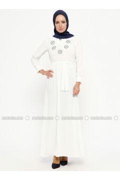 White - V neck Collar - Unlined - Dresses - SUEM(110315279)