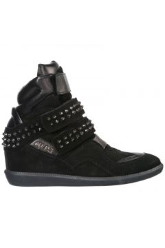 Women's shoes high top suede trainers sneakers(118073003)