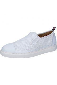Chaussures Brimarts slip on blanc cuir BZ282(115393988)