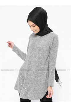 Gray - Crew neck - Tunic - NZL(110316633)