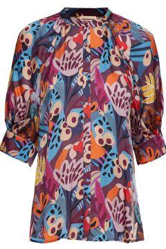 Vanessa Blouses Short-sleeved Bunt/gemustert CUSTOMMADE(114152485)