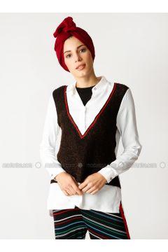 White - Brown - Multi - Blouses - Meryem Acar(110330066)