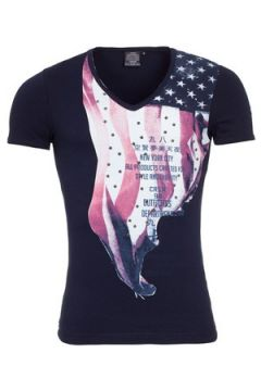 T-shirt Carisma Tee shirt mode homme Tee shirt CRSM4080 bleu(88504328)