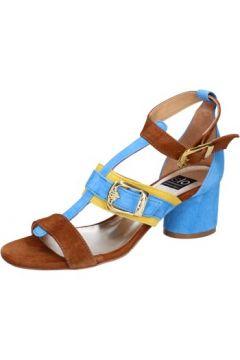 Sandales Islo sandales bleu daim marron BZ330(88514671)