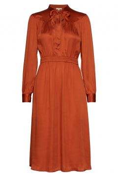 Satin Bow Dress Kleid Knielang Orange BY TI MO(114163804)