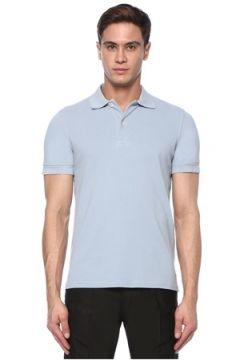 Tom Ford Erkek Mavi Polo Yaka T-shirt 48 IT(117578275)