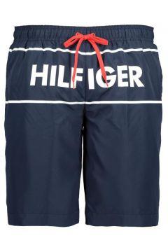 """Tommy Hilfiger: Badeshort mit gummiertem \""""Hilfiger\""""-Print, 4XL, Marine(108830216)"""