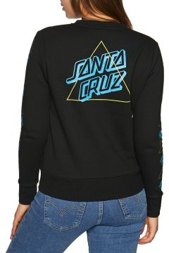 Santa Cruz Not A Dot Outline Crew Damen Pullover - Black(116641265)