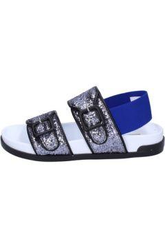 Sandales Jeannot sandales argent glitter bleu textile BT512(115442830)