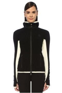 Moncler Grenoble Kadın Siyah Beyaz Kapüşonlu Polar Ceket XS EU(108513809)