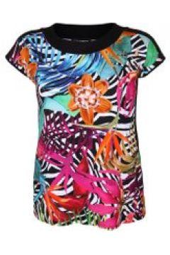 Shirt mit floralem Muster Doris Streich türkis(111503129)