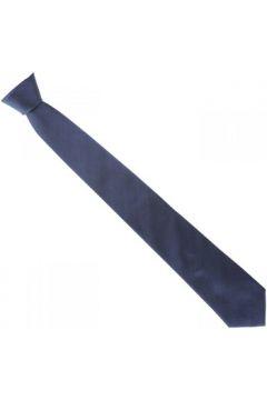 Cravates et accessoires Emporio Balzani cravate en soie unie bleu(115424285)