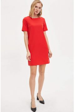 DeFacto Kadın Basic Kısa Kollu Dokuma Elbise(119062178)