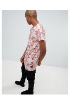 Sixth June - Langes T-Shirt in Camouflage - Rosa(83088142)