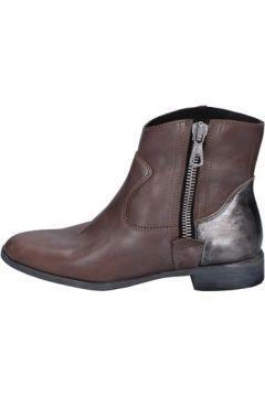 Bottines Crime London chaussures bottines marron cuir gris AK995(115443139)