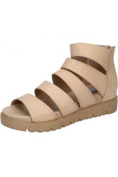 Sandales Francescomilano sandales marron cuir BY56(115400874)