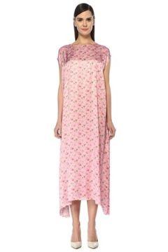 Vetements Kadın Pembe Çiçekli Mikro Logo Baskılı Midi Elbise XS EU(107373333)