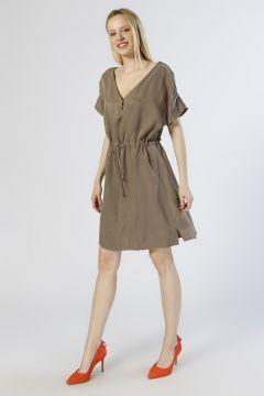 Network Taş Detaylı Vizon Elbise(113961836)