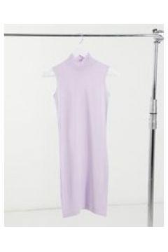 Heartbreak - Vestito accollato lavorato a maglia lilla in coordinato-Viola(123404926)