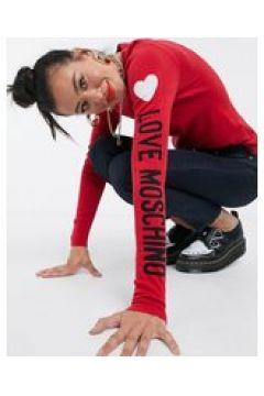 Love Moschino - Maglione con logo sul braccio rosso(122685069)