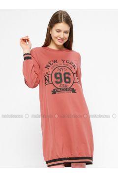 Crew neck - Dusty Rose - Sweat-shirt - İkoll(110319973)