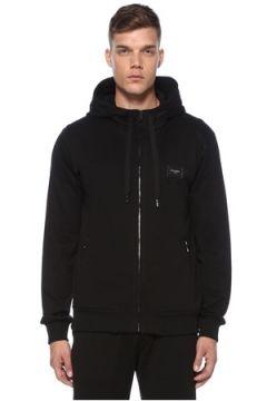 Dolce&Gabbana Erkek Siyah Kapüşonlu Sweatshirt 44 IT(121108481)