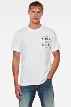 G-Star RAW Men Back Graphic Logo T-Shirt White(118326925)