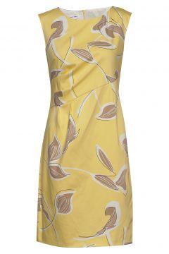 Dress Woven Fabric Kleid Knielang Gelb GERRY WEBER(114165037)