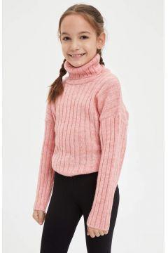 DeFacto Kız Çocuk Balıkçı YakaTriko Kazak(125917244)