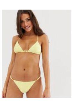 New Look - Zitronengelbes Triangel-Bikinioberteil - Gelb(95032128)