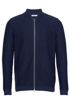 Field Zip Cardigan Knit - Gots/Vega Cardigan Strickpullover Blau KNOWLEDGE COTTON APPAREL(114153905)