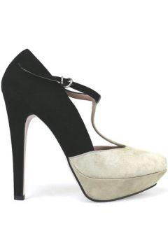 Chaussures escarpins 25.1C escarpins noir beige daim AH295(88520494)