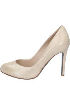 Chaussures escarpins 18 Kt escarpins beige platine daim BS178(115443115)