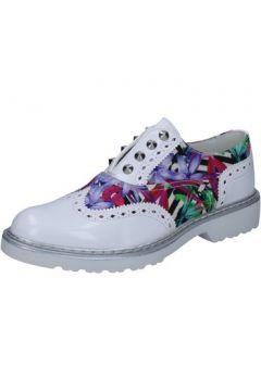 Chaussures Cult élégantes blanc cuir brillant multicolor textile BZ264(115394098)