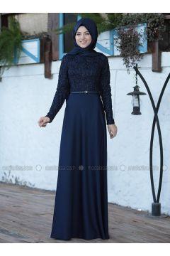 Saxe - Crew neck - Unlined - Dresses - Al-Marah(110320076)