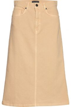 0639 - Kathy Skirt Knielanges Kleid SAND(108925343)