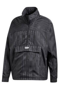 Adidas Erkek RYV Siyah Kapüşonlu Logo Jakarlı Mont L EU(113465400)
