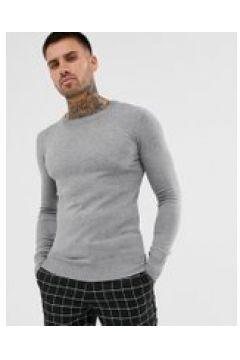 Gianni Feraud - Maglione premium a maglia fine girocollo attillato-Grigio(120224112)