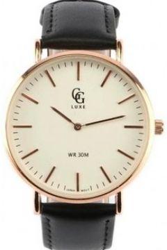 Montre Gg Luxe Montre Homme Bracelet Cuir Noir Cadran Doré Nelson(88489336)