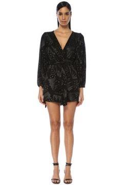 Isabel Marant Kadın Vienna Siyah V Yaka İşlemeli Kuşaklı Mini Elbise 36 FR(109109804)