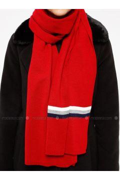 Red - Shawl Wrap - Koton(110323553)