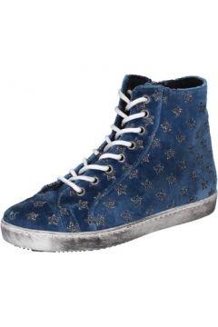 Chaussures Mancapane sneakers bleu velours BX172(98483845)