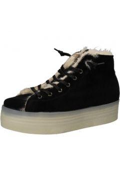 Baskets 2 Stars sneakers noir velours fourrure AE614(115399527)