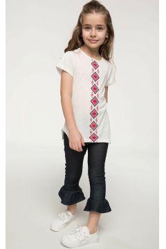 DeFacto Kız Çocuk Paçası Volan Detaylı Kapri(108986722)