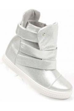 Trampki sneakersy na niskim obcasie SREBRNE(112082914)