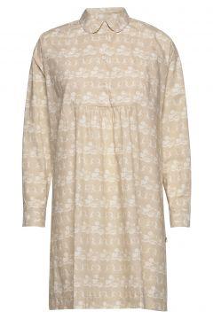 Janica Dress Kleid Knielang Beige WOOD WOOD(115807483)