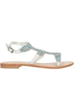 Sandales Cristin CATRIN9 sandales Femme Blanc et bleu(127922671)