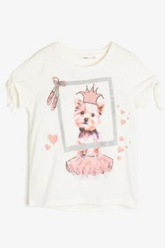 Koton Kız Çocuk Koton Kids Love T-Shirt(89957376)